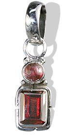 Design 1420: red garnet pendants