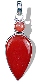 Design 1441: orange carnelian leaf pendants