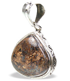 Design 15452: brown bronzite pendants