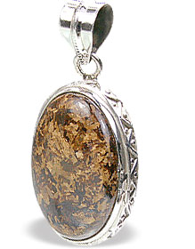 Design 15454: brown bronzite pendants
