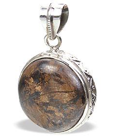 Design 15459: brown bronzite pendants