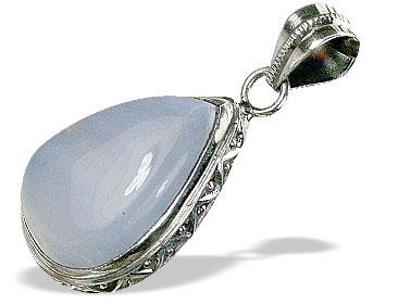 Design 15493: blue blue lace agate pendants