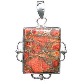 Design 15862: green,red jasper pendants