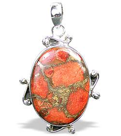Design 15864: green,red jasper pendants
