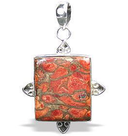 Design 15865: green,red jasper pendants