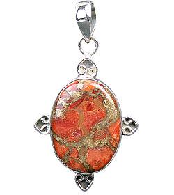 Design 15867: green,red jasper pendants