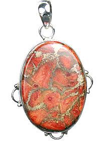 Design 15868: green,red jasper pendants