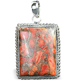 Design 15870: brown,green,red jasper pendants