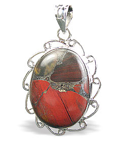 Design 15874: brown,green,red jasper contemporary pendants