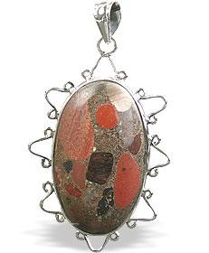 Design 15877: brown,green,red jasper classic pendants
