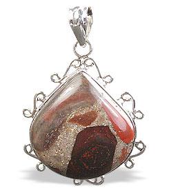Design 15881: brown,green,red jasper classic pendants