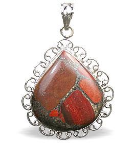 Design 15882: brown,green,red jasper american-southwest pendants