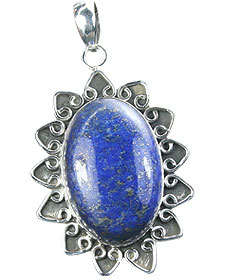 Design 15889: blue lapis lazuli contemporary pendants
