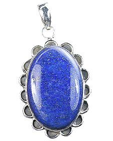 Design 15890: blue lapis lazuli flower pendants