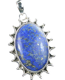 Design 15891: blue lapis lazuli flower pendants