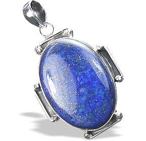 Design 15894: blue lapis lazuli chunky pendants