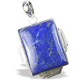 Design 15896: blue lapis lazuli american-southwest pendants