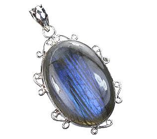 Design 15901: blue labradorite classic pendants