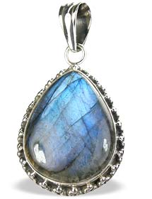 Design 15909: blue,green labradorite brides-maids pendants