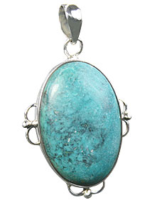 Design 16002: green chrysoprase chunky pendants