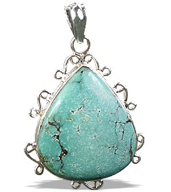 Design 16011: green turquoise american-southwest pendants