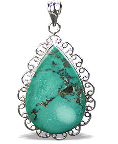 Design 16012: green turquoise classic pendants
