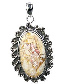Design 16013: brown,white,yellow jasper classic pendants
