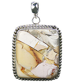 Design 16016: brown,white,yellow jasper classic pendants