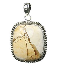 Design 16017: brown,white,yellow jasper chunky pendants