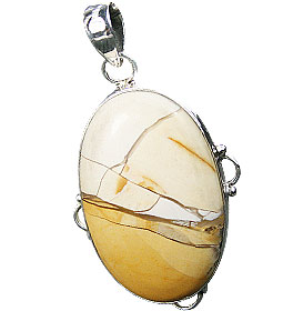 Design 16019: brown,white,yellow jasper classic pendants
