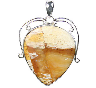 Design 16020: yellow jasper chunky pendants