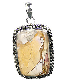 Design 16022: brown,white,yellow jasper classic pendants