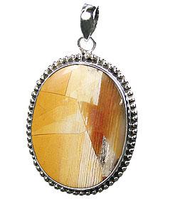Design 16023: yellow jasper classic pendants