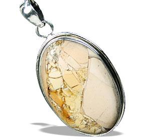 Design 16024: brown,white,yellow jasper contemporary pendants