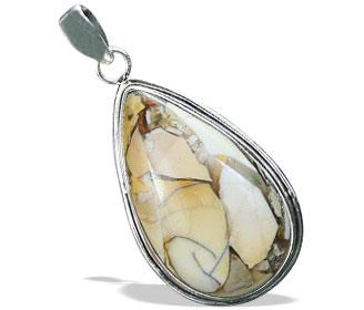Design 16025: brown,white,yellow jasper classic pendants