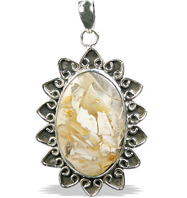 Design 16027: brown,white,yellow jasper classic pendants