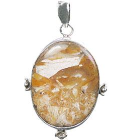 Design 16029: brown,white,yellow jasper classic pendants