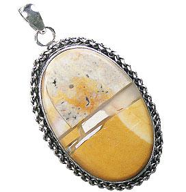 Design 16030: brown,white,yellow jasper contemporary pendants