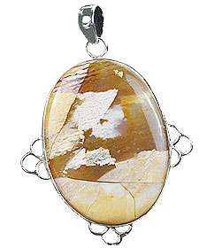 Design 16031: brown,white,yellow jasper classic pendants