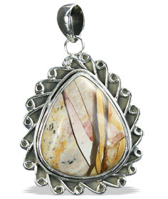 Design 16047: brown,white,yellow jasper contemporary pendants