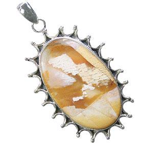 Design 16048: brown,white,yellow jasper contemporary pendants