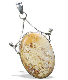 Design 16049: brown,white,yellow jasper chunky pendants
