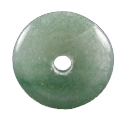 Design 1605: green aventurine donut pendants