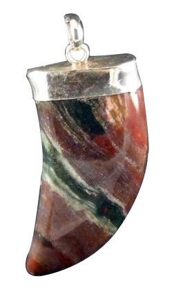 Design 1611: red jasper claw, mens pendants