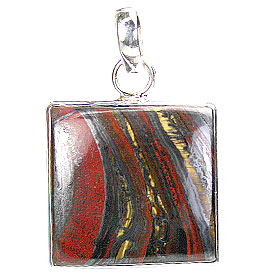 Design 16136: black,red tiger iron pendants