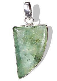 Design 1655: green prehnite pendants