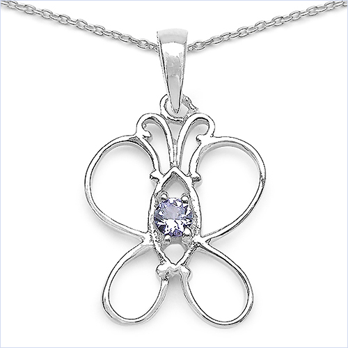 Design 16766: blue tanzanite pendants