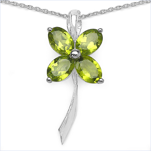Design 16809: green peridot pendants
