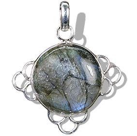 Design 1681: green,gray labradorite pendants
