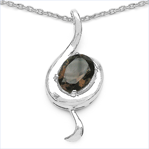 Design 16819: brown topaz pendants